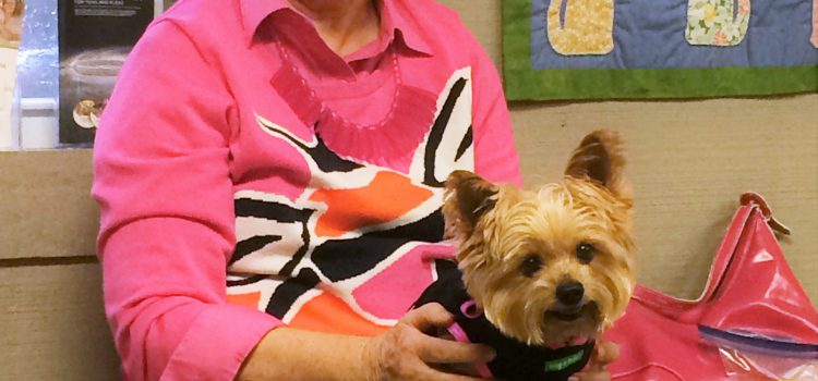 Customer with pet dog 1